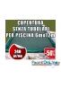 Copertura invernale da 240 gr Senza tubolari per piscine 6mt x 12mt - Dim. Cop. reali 7.50mt x 13.5mt
