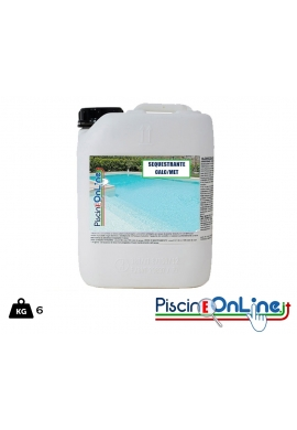 [6 LT] SEQUESTRANTE LIQUIDO PER CALCARE E METALLI SPECIFICO PER TRATTAMENTI ACQUE DI PISCINA