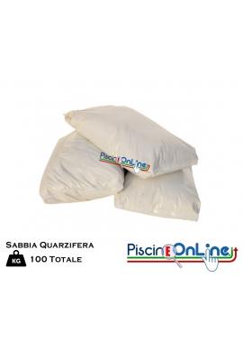 Sabbia quarzifera microperlata 100 kg granulometrie 0,4/0,8