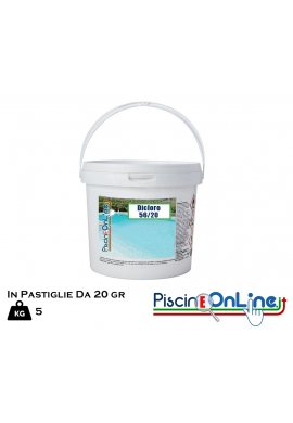 DICLORO 56 PERCENTO IN PASTIGLIE DA 20 GR - SPECIFICO PER TRATTAMENTO ACQUE DI PISCINA - 5 KG