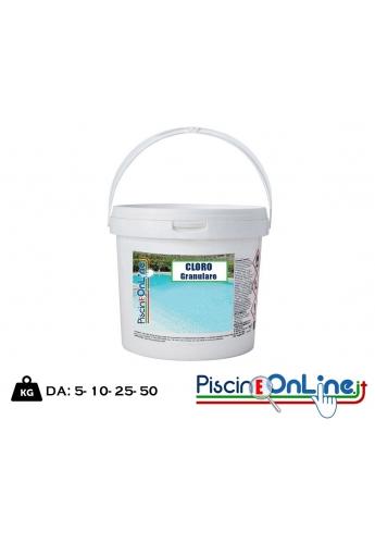 Cloro Granulare 56 percento fusto da 10 kg - spedizione omaggio prodotti per piscina online