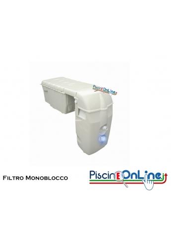 Gruppo di Filtrazione Monoblocco per piscine fino a 110 mc - Proiettore Led Bianco + Elettrolisi al sale