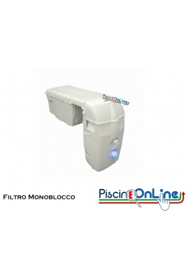 GRUPPO DI FILTRAZIONE MONOBLOCCO PER PISCINE FINO A 45 MC SENZA O CON LED BIANCO/COLORE
