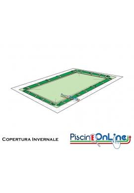 COPERTURA INVERNALE DA 220/210 GR CON TUBOLARI INCLUSIPER PISCINE 4mt x 6.6 mt + ROMANA RAGGIO 1.5mt