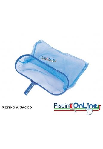 Retino a sacco con clip - per raccogliere le impurità della piscina