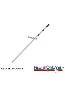 ASTA TELESCOPICA IN ALLUMINIO A DUE SEZIONI CON CAMME DI BLOCCO INTERNO - TRE MISURE