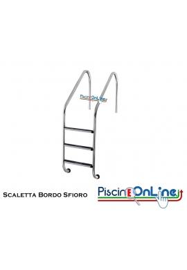 SCALETTA BORDO SFIORO MODELLO XL - INOX AISI 316 CON GRADINO ANTISCIVOLO - 2/3/4/5 GRADINI