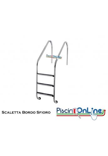 Scaletta Bordo Sfioro modello XL AISI 316 con gradino antiscivolo 2/3/4/5 gradini