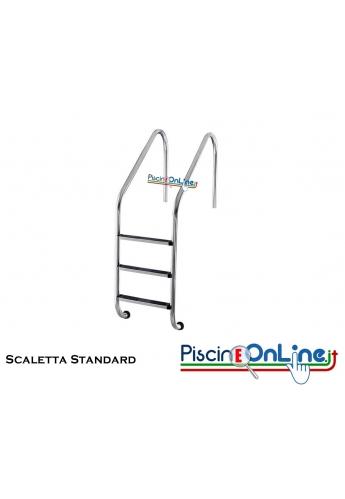 Scaletta mod. standard AISI 316 e da 2 a 5 gradini anatomici - offerte accessori piscina online