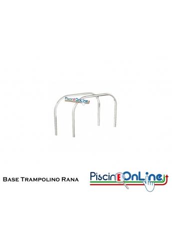 Base trampolino modello Rana coppia supporti in acciaio inox - offerte accessori piscina online