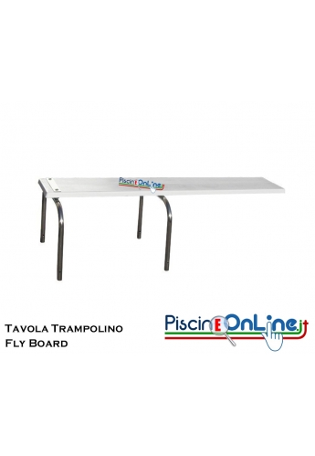 "Tavola trampolino Fly Board"" in vetroresina abbinabile a base Rana o base Kanguro Diverse Misure"""