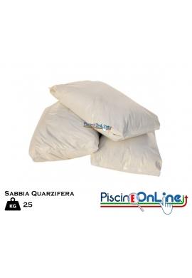 SABBIA QUARZIFERA MICROPERLATA IN SACCO DA 25 KG - 3 DIVERSE GRANULOMETRIE