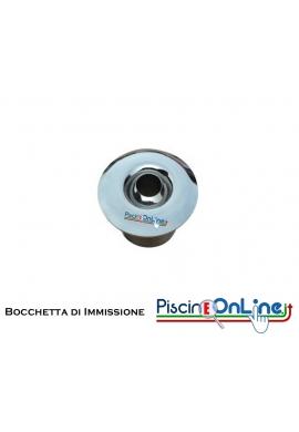 BOCCHETTA DI IMMISSIONE A PARETE IN ACCIAIO INOX AISI 316L PER RIVESTIMENTO MOSAICO/VERNICE o LINER/PVC