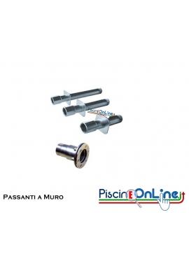 TRONCHETTI PASSA PARETE IN ACCIAIO INOX AISI 316L PER RIVESTIMENTI MOSAICO/VERNICE o LINER/PVC