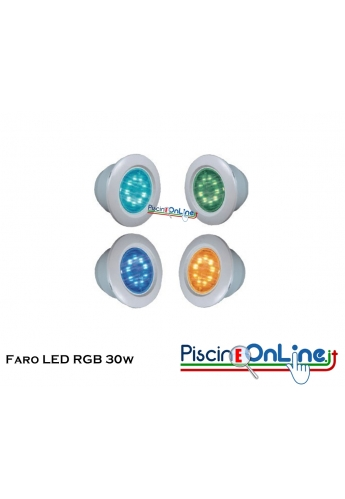 Faro HAYWARD LED RGB COLORLOGIC 2 DA 30 W 11 COLORI per Cemento Armato o liner