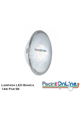 LAMPADA LED BIANCA POWERLINE 14 w 12 V PAR 56 - ILLUMINAZIONE FARI PER PISCINA ONLINE