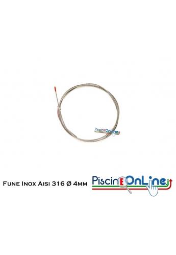 Fune Inox AISI 316, Ø 4 mm