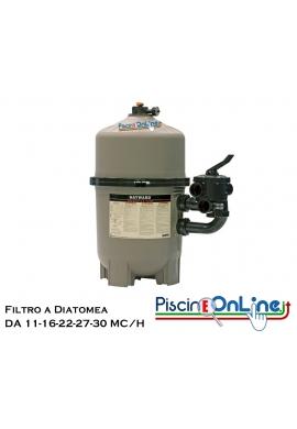 FILTRO A DIATOMEA PROGRID HAYWARD COMPRESO DI VALVOLA SELETTRICE DA 11 A 30 MC /H
