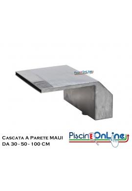 CASCATA A PARETE MAUI IN ACCIAIO INOX AISI 316 MODELLI DA 30 - 50 - 100 Cm