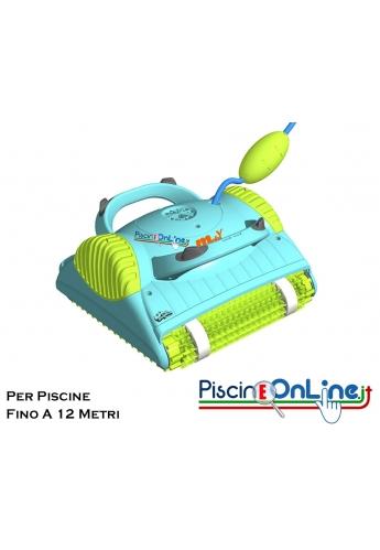 Pulitore robot dolphin MOBY PRO per piscine lunghe fino a 12 m pulisce fondali ed angoli