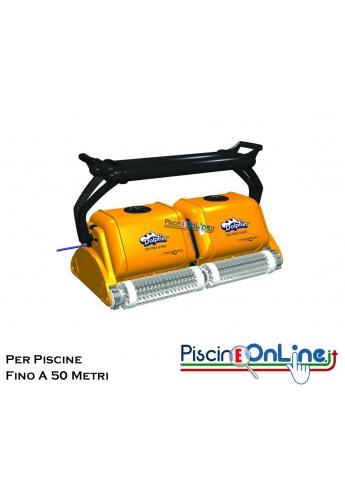 DOLPHIN 2X2 PRO GYRO con radiocomando, giroscopio, carrello, swivel e spazzole combinate.
