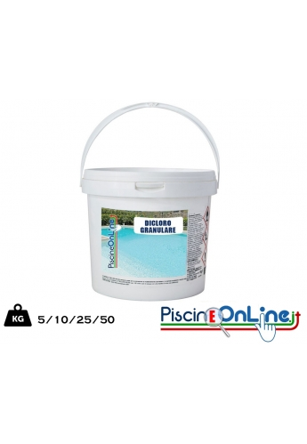 Dicloro Granulare 56 percento 5 KG - PRODOTTO CHIMICO PER PISCINA vendita online