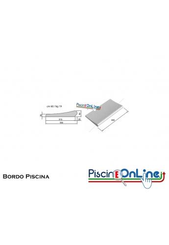 Bordo a superficie liscia sezione dritta -  0.30x 0.60 mt