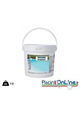 TRICLORO 90 PERCENTO GRANULARE CONFEZIONE DA 10 KG - PRODOTTI CHIMICI TRATTAMENTO ACQUE PISCINE