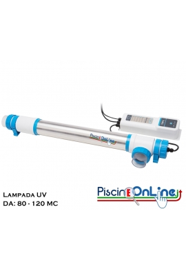 UV SYSTEM - PURIFICATORE D'ACQUA A LAMPADA UV PER PISCINE DA 80 A 120 MC