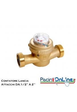 CONTATORE LANCIA IMPULSI CON ATTACCHI DA 1/2'' A 2''