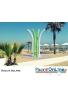 DOCCIA SOLARE - HAPPY BEACH - IN POLIETILENE - CON SERBATOIO 28 LT