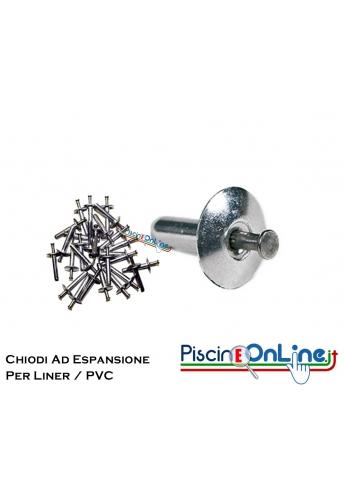 CHIODI AD ESPANSIONE PER LINER E RIVESTIMENTI IN PVC - DA 16 E 26 MM