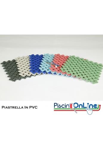 PIASTRELLA IN PVC MORBIDO MODELLO LAGUNA - IDEALE PER BORDO PISCINA, DOCCE E TERME. DIMENSIONI 20 X 20 CM