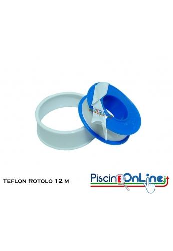 TEFLON PER CONGIUNZIONI 12mm X 0.75mm ROTOLO DA 12 METRI - CONFEZIONE DA 10 PZ