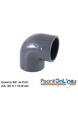 GOMITO 90° CON INCOLLAGGIO DA Ø 20 A Ø 110 MM - RACCORDI IN PVC