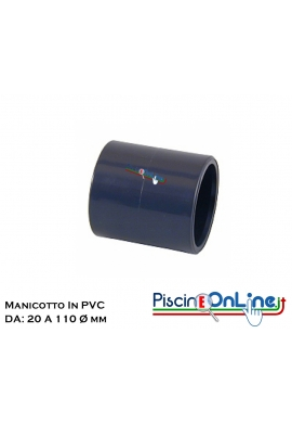 MANICOTTO FF DA Ø 20 A Ø 110 MM - RACCORDI IN PVC