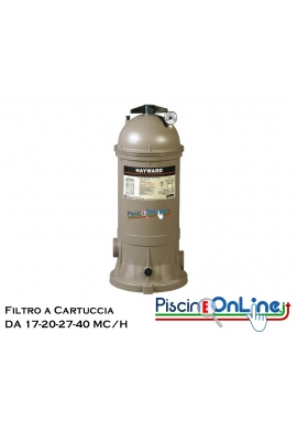 Filtro a cartuccia HAYWARD Star Clear Plus da 17 -  20 - 27 -  40 M3/h