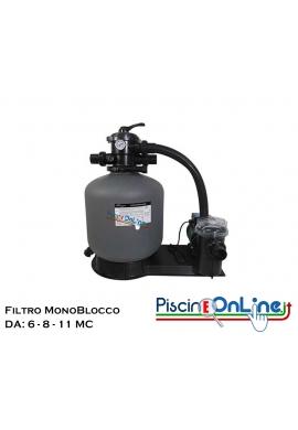 FILTRO COMPATTO ABBINATO A POMPA CENTRIFUGA CON PRE-FILTRO - PORTATA DA 6 / 8 / 11 MC - SISTEMI DI FILTRAZIONE POOLSTYLE