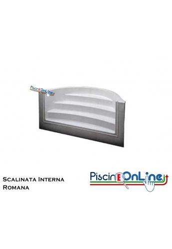 SCALINATA MODELLO ROMANA - PER PISCINE E SPA - MODELLO DA 3 O 4 SCALINI