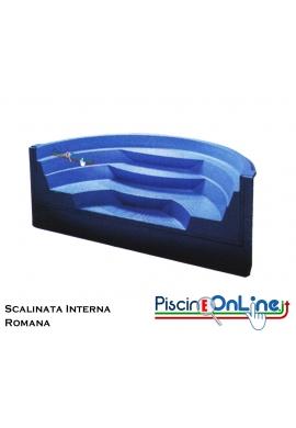 SCALINATA MODELLO ROMANA - PER PISCINE E SPA - MODELLO DA 3 - 4 - 5 SCALINI