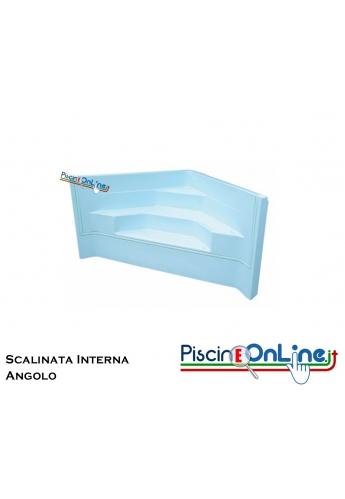 SCALINATA AD ANGOLO - PER PISCINE E SPA - MODELLO DA 3 - 4 SCALINI