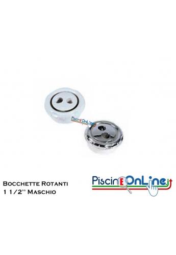 BOCCHETTE ROTANTI CON FILETTO DA - 1 1/2' - MASCHIO NELLE VERSIONI BIANCO O CROMATO