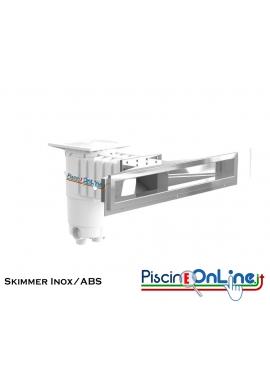 SKIMMER SFIORATORE IN INOX/ABS - 80 CM - PER PISCINE IN CEMENTO E PANNELLI IN ACCIAIO