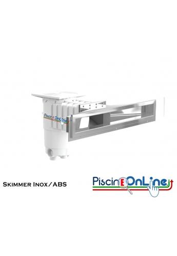SKIMMER A 800 SERIE DESIGN IN INOX/ABS - 80 CM - PER PISCINE IN CEMENTO E PANNELLI IN ACCIAIO