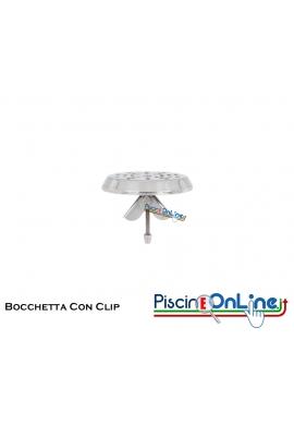 BOCCHETTA DI IMMISSIONE DA FONDO IN ACCIAIO INOX CON CLIP PER CLS