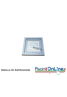 GRIGLIA DI ASPIRAZIONE IN ACCIAIO INOX AISI 316