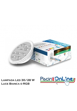 RICAMBIO LAMPADA PER PROIETTORE A LED DIAMOND / RAINBOW - COMPATIBILE CON TUTTE LE LAMPADE PAR 56 - VERSIONE BIANCO/RGB
