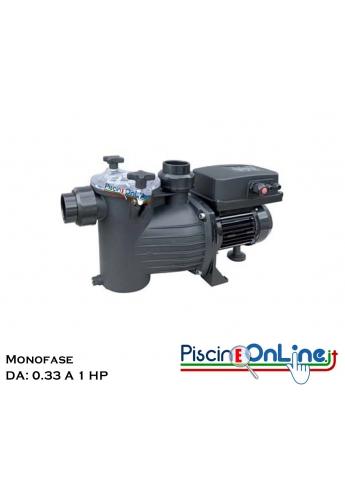 POMPA AUTOADESCANTE PER PISCINE RESIDENZIALI - CON PREFILTRO INCORPORATO - SERIE BASIC - DA 0.33 A 1 CV - MONO/TRIFASE