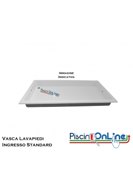 VASCA LAVA PIEDI - INGRESSO STANDARD - IN VETRORESINA BIANCA, DIMENSIONI 200x100x20 CM