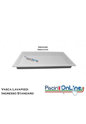 Vasca lavapiedi standard in vetroresina rinforzata, dimensioni 2100x1100x200 mm